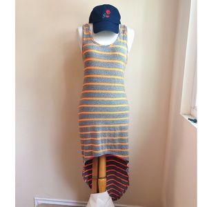 Vintage Havana Neon Stripe Sporty Jersey Dress